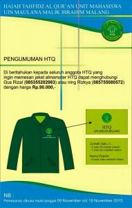 Gambar jaket Almamater HTQ
